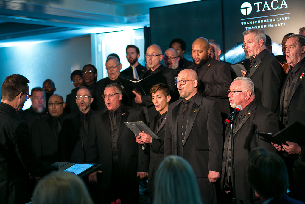 Men's chorale performing