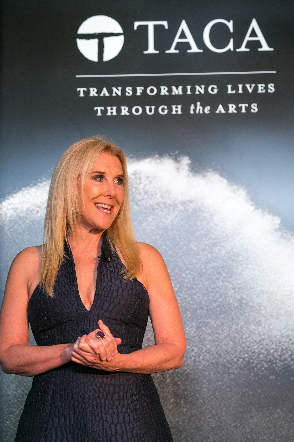 Katherine Wynne of U.S. Trust speaking at the TACA Appreciation Dinner