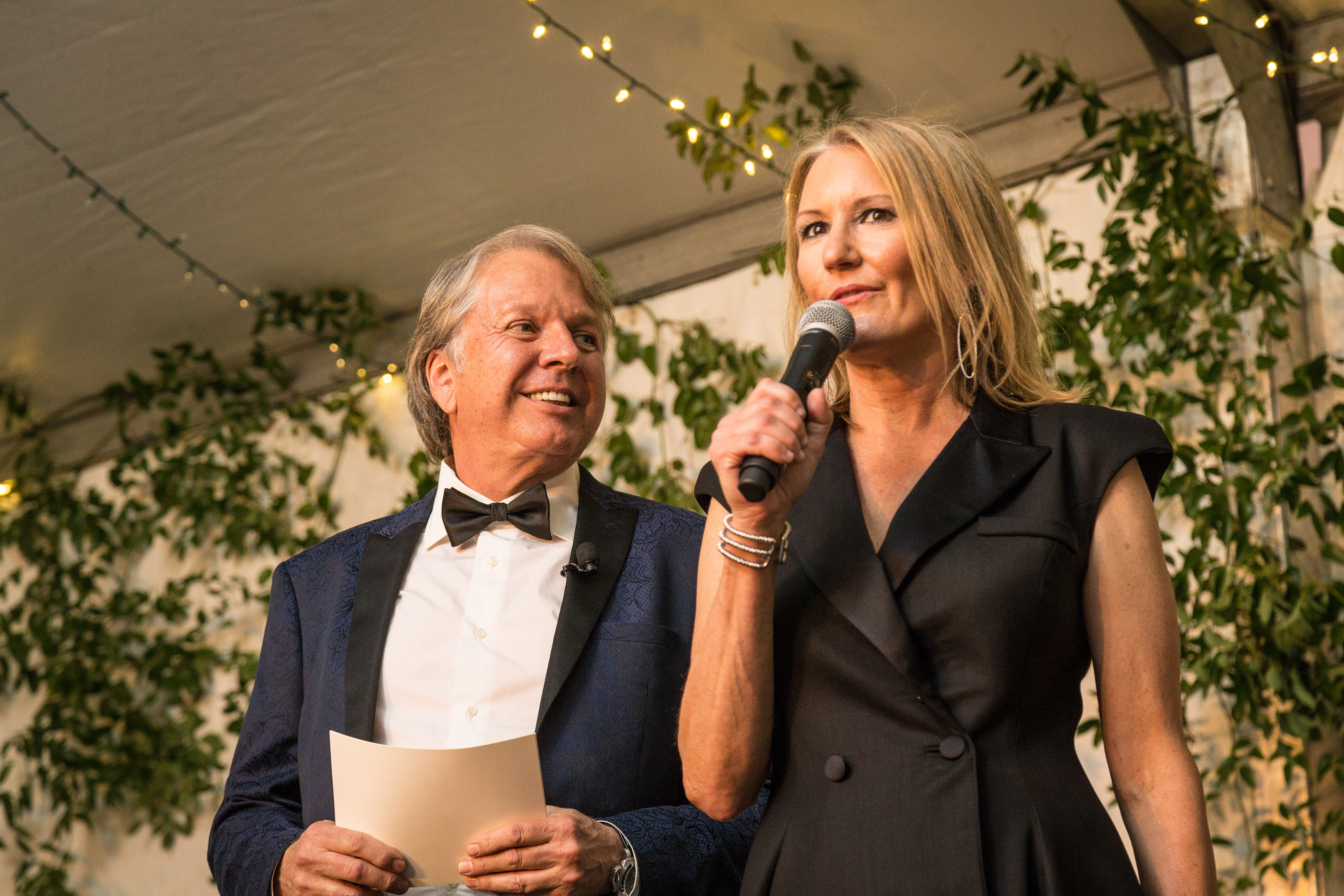 Dean Fearing and Wanda Gierhart hosting TACA's 50th Anniversary Gala