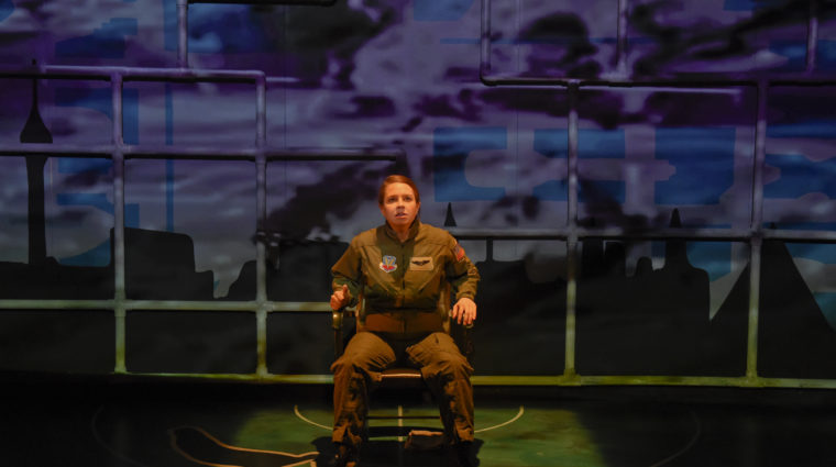 """Actress in Second Thought Theatre's 2016 show, """"Grounded"""""""